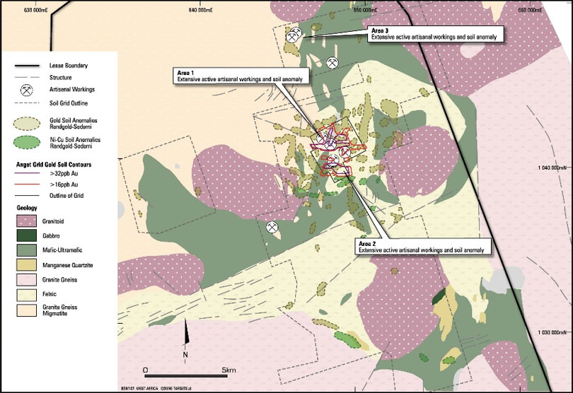 Figure 8: Right, Geologic map of the main Savanné Artisnal mining area �